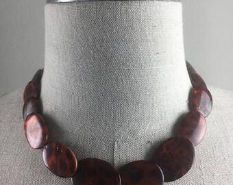 Mod 60s beaded Leopard necklace