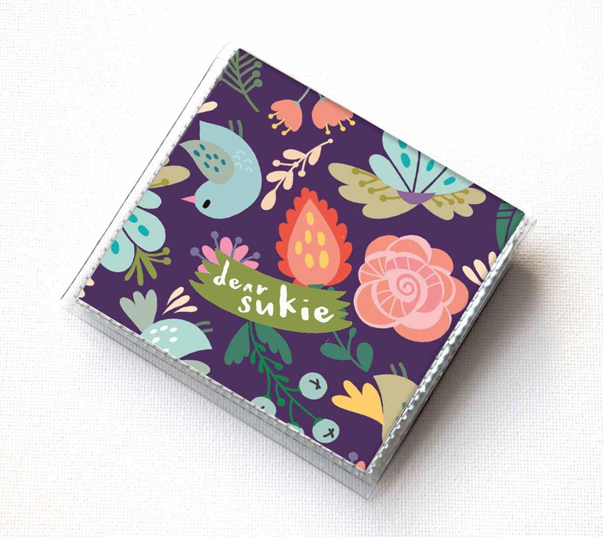 Handmade Vinyl Moo Square Card Holder - Gentle / case, vinyl, snap ...