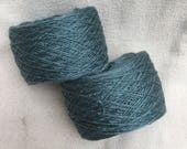 Fingering 4ply weight Silk Yarn Hand Dyed  - Petrol Green