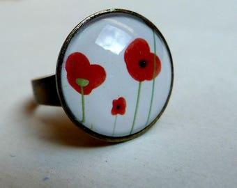Ring BA028 poppies