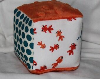 Small Goldfish Chase Fabric Block Rattle