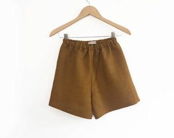 Salt Water Taffy shorts, boy girl shorts, loose shorts (caramel)