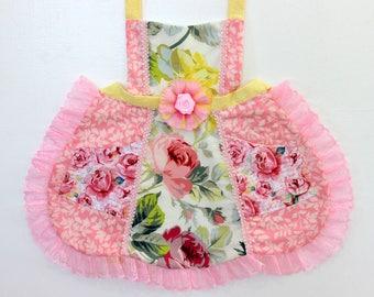 Flower Bouquet Apron, toddler apron, girls apron