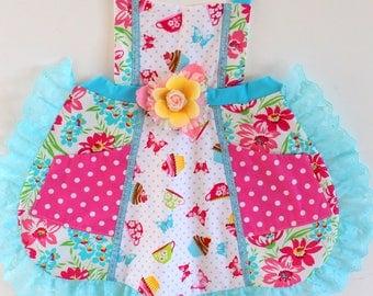 Tea Party Cupcake Apron, toddler apron, girls apron