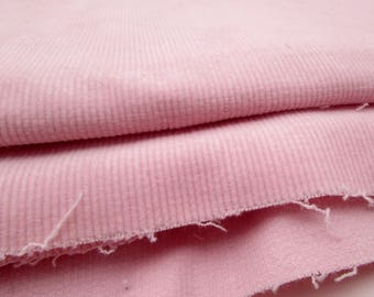 Fabric Yardage - 2 yards Baby Pink Corduroy - Stretch Corduroy - destash - 18 wale