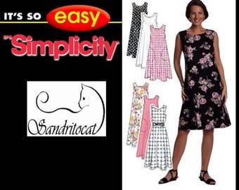 OOP Misses Summer Dress or Jumper Sewing Pattern Simplicity 7541 Plus & Reg Size 6-24 Bust 30.5-46 UNCUT/FF