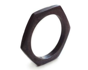 SALE - Black Nut Ring - Size 8 - 8.5 - Silver Nut Ring - Industrial Ring - Minimalist Ring - Rustic Ring - Men's Ring - Made In Brooklyn