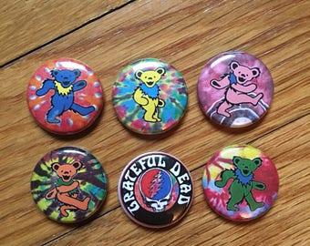 """Grateful Dead 6 Pack 1"""" Buttons"""