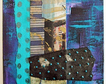 5 x 7 Mixed Media Collage on Matte Board