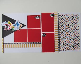 Walt Disney World Premade 12x12 Scrapbook Layout, DIY Kit, Scrapbook Page Kit,
