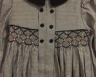 Smocked Houndstooth Dress Girls 6