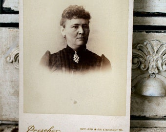 Milwaukee Lady cabinet card vintage photo,antique photo,cabinet card,unknown relatives,old photographs,collage art,