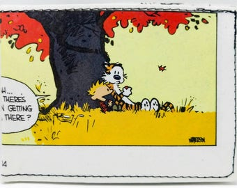 Sewn Comic Book Wallet - Calvin and Hobbes