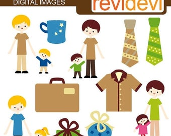 50% OFF SALE Father's day clip art / I Love My Daddy Clipart 07306 - Cute Digital Images - Clip art for commercial use
