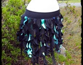 Mermaid Seaweed Tribal Spiral Over Skirt, Size XL - 2XL - Ready to Ship - Plus Festival Belly Dance Cascade Gothic Cosplay Costume Sea Siren