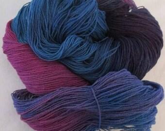 Handpainted Yarn - 4/2 Soft Cotton Yarn  MYSTIC STAR