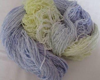 Handpainted Soft Rayon Chenille Yarn  BASSINET  -  420 yds