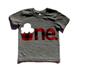 Lumberjack Birthday,Buffalo Plaid, Cupcake,One,First Birthday,Fabric Iron On Appliques,Other Numbers Available