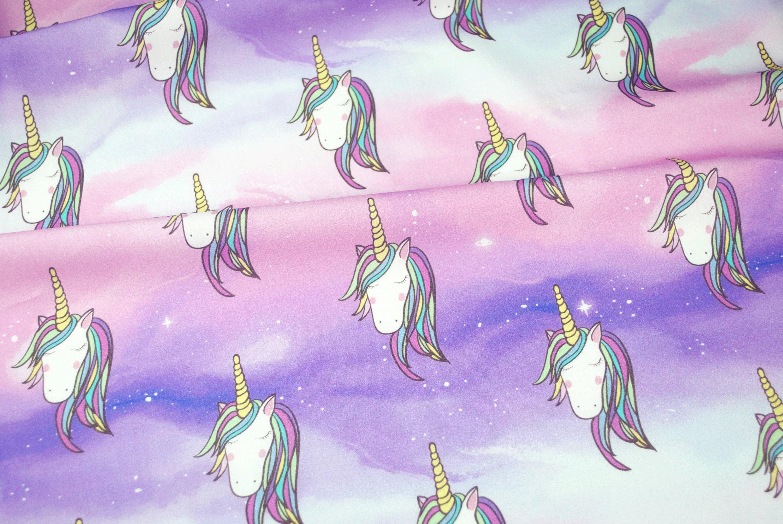 Unicorn galaxy fabric exclusive digital print on for Galaxy fabric canada