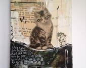 RESERVED for Jeanne - Handbound Journal - Cat