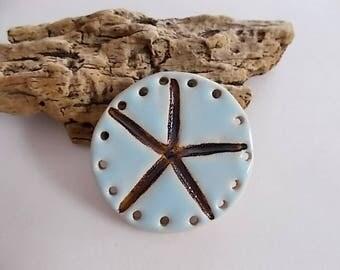 Handmade Ceramic Starfish Pine Needle Basket Base