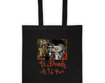 Halloween Wedding Skeleton Couple Romantic Tote bag