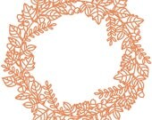 Fall Wreath Cut File .SVG .DXF .PNG