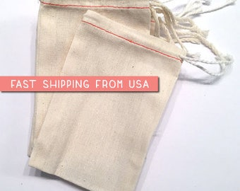 "100 12"" x 16"" Muslin Drawstring Bags, natural cotton drawstring bags, wedding, potpourri sachet, stamping, packaging, crafts, party favor"