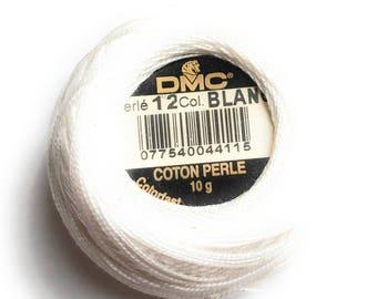 DMC Blanc -  Perle Cotton Thread Size 12- White, White off, Natural