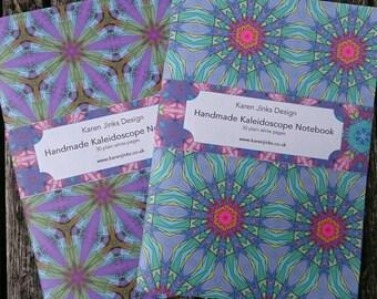 2 Handmade A5 Notebooks - Kaleidoscope Set 4