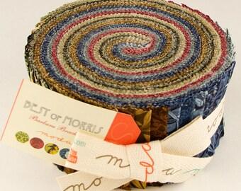 "Moda Best Of Morris Jelly Roll 2.5"" Precut Fabric Quilting Cotton Strips Barbara Brackman 8141JR"