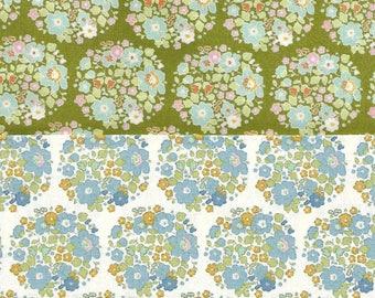 Tilda Quilt Fabric | Tilda Quilt Collection Fabrics | Two Fat Eights | Tilda Bumblebee Nest 48133 | Medium Floral | Quilt Stash