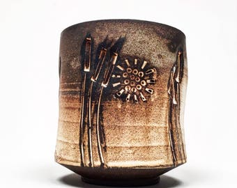 Cattail cup woodfired
