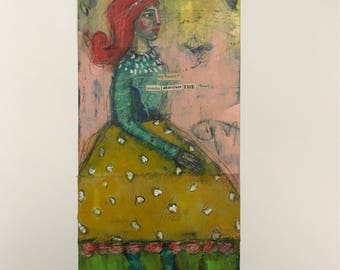 Secret, Mixed Media Painting, Folk Art, Ousider, Art Brut, Mystele