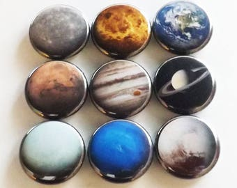 Planets Fridge Magnet Gift set space solar system astronomy science home decor party favor stocking stuffer locker decoration geek nerd dork