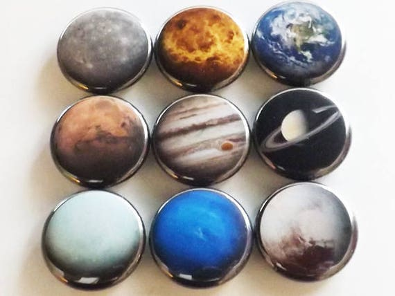 Planets Fridge Magnet Gift set space solar system astronomy science home decor party favor stocking stuffer locker decoration geek nerd dork