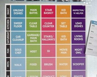 Family Job & Chore Chart Kit