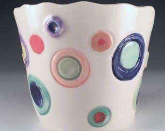 Handmade Porcelain Plant Pot