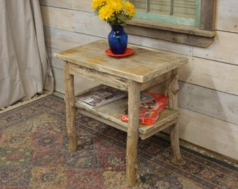 """Driftwood sideboard Table with shelf (24"""" x 12"""" x 24""""H) (Custom Request, new pictures soon)"""