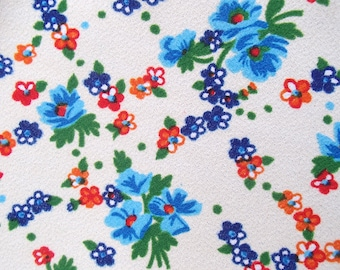 Vintage Polyester Fabric / European fabric / 60s / trevira / sixties