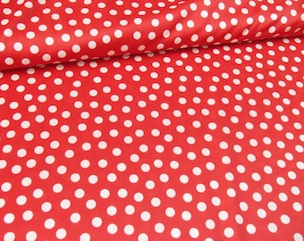polka dot / red and white / vintage fabric / skirt making / original 60s