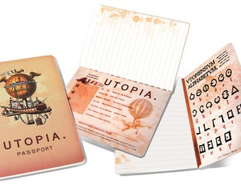 Utopia Passport Notebook