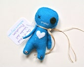 Voodoo Doll Pincushion Unique Halloween Decor One of a Kind Doll Gift for Crafter Maker Gift Weird Stuff Cute Office Decor Voodoo Witch Doll