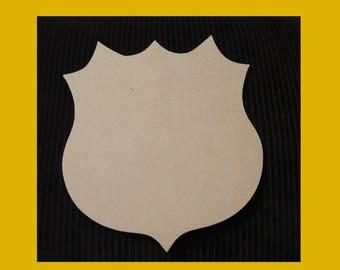 Unfinished Mdf Wood Shield Blank Family Crest Mosaic Base Craft Base