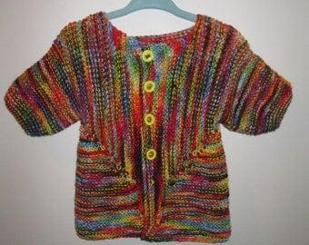 Rainbow Chocolate Newborn Jacket