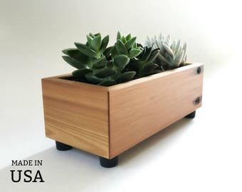 Succulent Planter Box - Reclaimed Wood - Home - Garden - Recycled Wood Decor