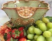 Bee Ceramic Colander Berry Bowl - Extra Large Strainer - Kitchen Colander - Ceramic Kitchenware - Honey Bee