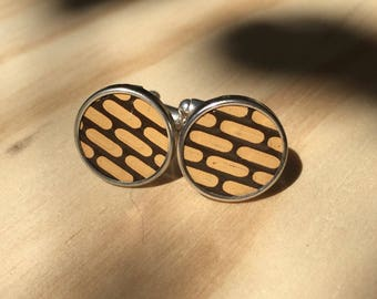 Tan Brown Brick Cuffs. Mens cufflinks.  Womens cuff links.  Birthday gifts.  Gifts for men and women.  Mens birthday gift.