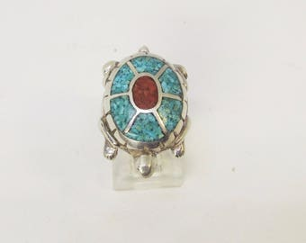 Sterling Turtle Ring
