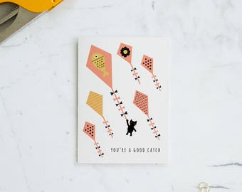 You're a good catch - anniversary / love card - blank/folded
